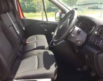 Vauxhall Vivaro inside